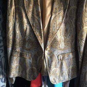 Single Breasted Gold Paisley Jacket
